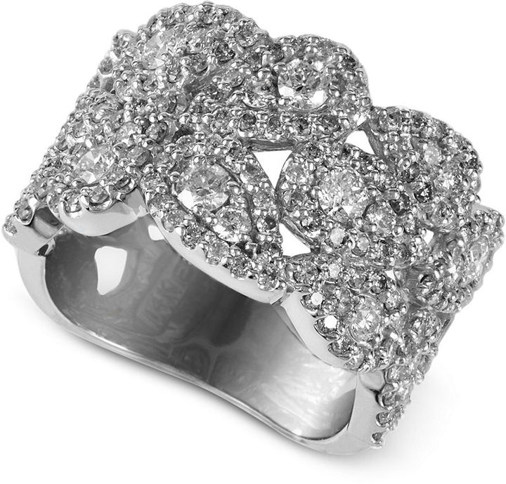 EFFY Collection Diamond Ring, 14k White Gold Diamond Cluster Ring (1-7/8 ct. t.w.)