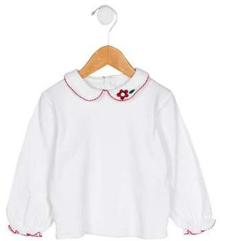 Florence Eiseman Girls' Embroidered Knit Top