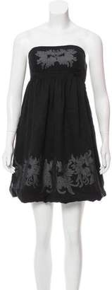 Vivienne Tam Strapless Silk Dress