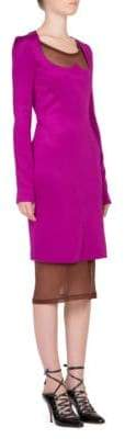 Givenchy Sheer-Panelled Sheath Dress