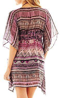 JCPenney Colorplay Tribal Print Cover-Up Tunic