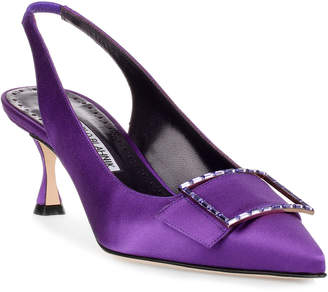 Manolo Blahnik Conchita 50 purple satin pump