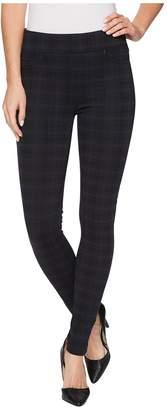 Liverpool Sienna Pull-On Leggings in Glenn Plaid Soft Ponte Knit in Night Sky Blue Women's Jeans
