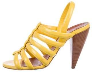 cc5f753cd4e Lanvin Patent Leather Caged Sandals