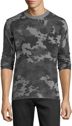 ATM Anthony Thomas Melillo Men's Camo Wool-Cashmere Sweater