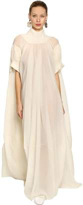 Jil Sander Silk Crepe Long Dress