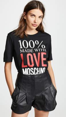 Moschino Love 100% Made with Love Tee
