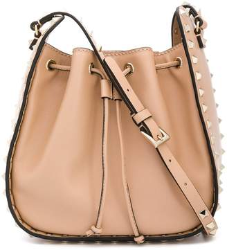 Valentino Rockstud bucket shoulder bag