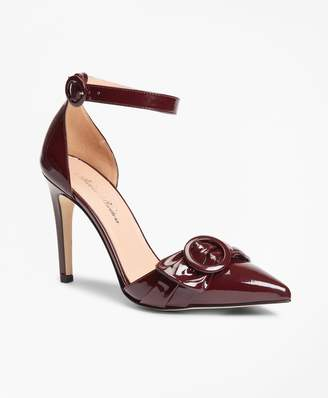 Brooks Brothers Patent Leather Point-Toe Sandals