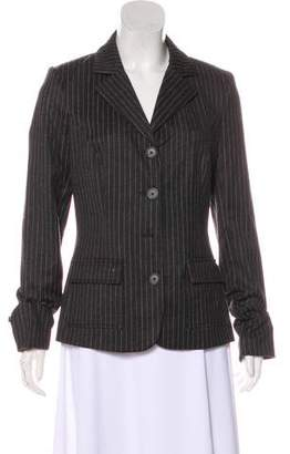 Diane von Furstenberg Notch Lapel Striped Blazer