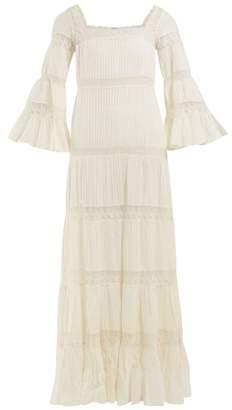 Mes Demoiselles Havilland Pintucked Cotton Maxi Dress - Womens - Cream