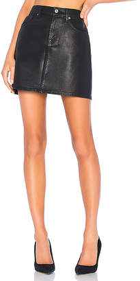 7 For All Mankind Coated Mini Skirt.
