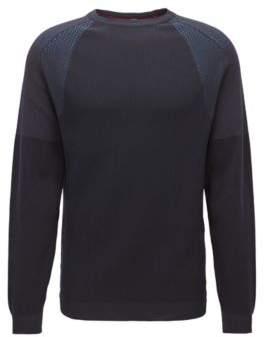 BOSS Hugo Technical Cotton Blend Sweater Roser S Black