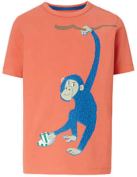 Boys' Monkey Print T-Shirt, Orange