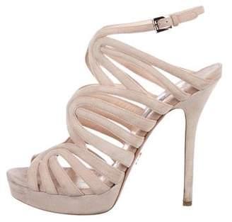 Prada Cage Platform Sandals