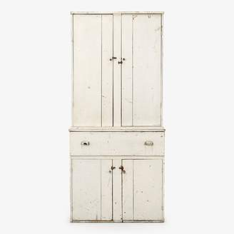 ABC Home Vintage Large Wooden Cabinet White