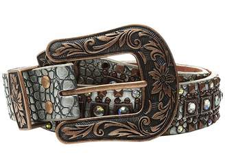 Croco M&F Western Copper Nailhead Belt