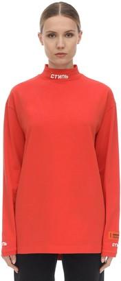 Heron Preston L/s Cotton Blend Jersey T-shirt