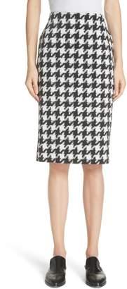 HUGO Riami Houndstooth Pencil Skirt