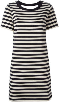 Moncler striped open back dress