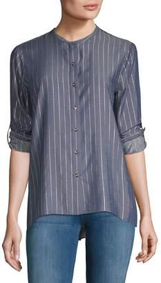 T Tahari Women's Stripe Blouse