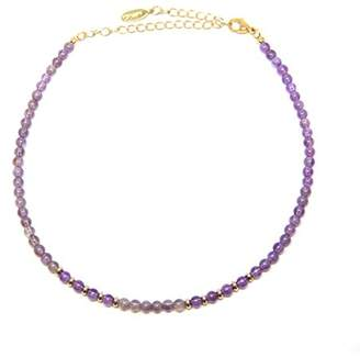 Ettika Still Surprise You in Amethyst and Gold Choker Necklace