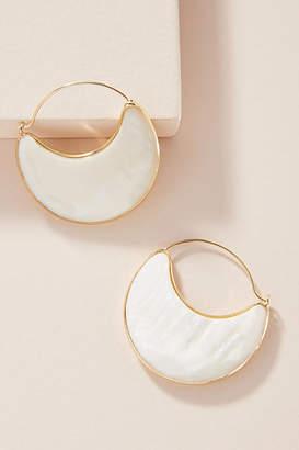 Anthropologie Luna Crescent Hoop Earrings