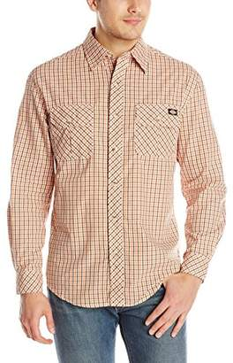 Dickies Men's Long-Sleeve Plaid Shirt with Inverted Pockets