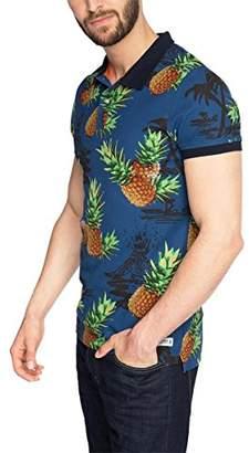 Esprit edc by Men's AOP Short Sleeve Polo Shirt