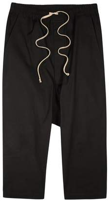 Rick Owens Black Cropped Shell Trousers