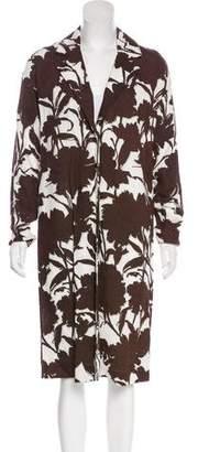 Prada Floral Long Coat