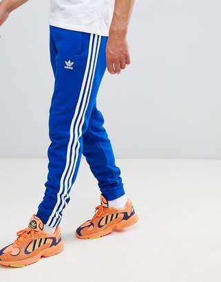adidas Adicolor 3-Stripe Joggers In Blue Cw2430