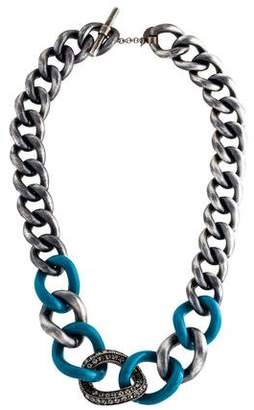 Lanvin Crystal & Resin Chain Necklace