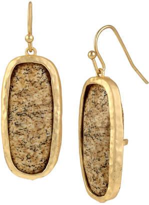 BLEU NYC Bleu Gold-Tone Brown Drop Earrings
