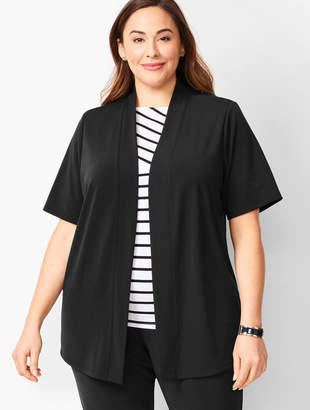 Talbots Plus-Size Knit Jersey Open Cardigan