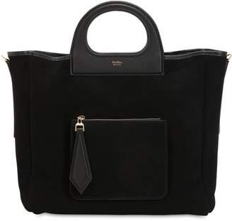 Max Mara Grac11s Reversible Suede & Shearling Bag