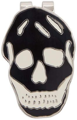 Alexander McQueen Black Skull Money Clip
