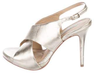 Diane von Furstenberg Leather Slingback Sandals