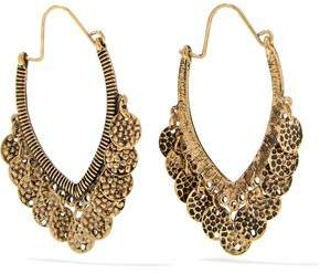 Gold-Tone Coin Earrings