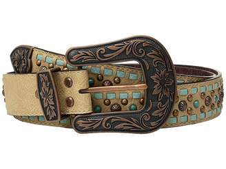 M&F Western Copper Studs with Turquoise Lace Belt