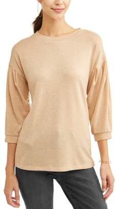 Concepts Women's Peasant Sleeve Sweatshirt