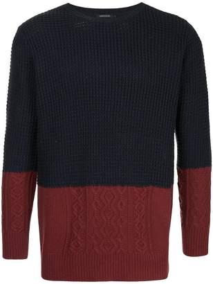 Loveless contrast knit jumper