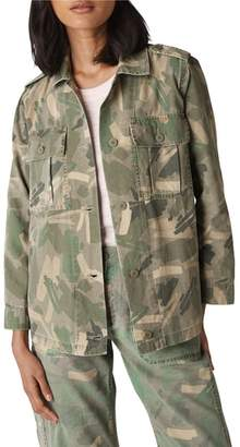 Whistles Longline Camo Utility Jacket