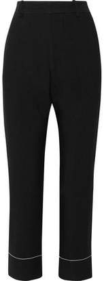 Bassike Cropped Woven Straight-Leg Pants