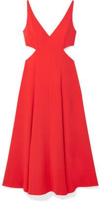 Jason Wu GREY - Cutout Crepe De Chine Midi Dress - Tomato red