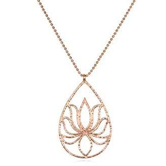 Satya Jewelry Plate Teardrop Lotus Chain Necklace