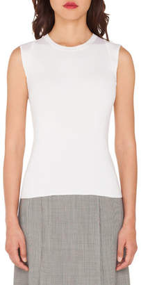 Akris Sleeveless Silk Stretch Knit Tank Top