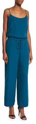 Haute Hippie Sleeveless Wide-Leg Cropped Jumpsuit, Teal $575 thestylecure.com