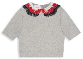 Gucci Girl's Cotton Embroidered Sweatshirt