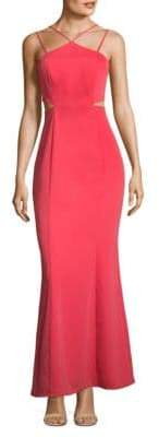 Laundry by Shelli Segal Cutout Halter Gown